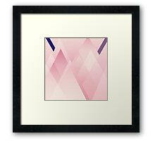 Pink Layered Triangles Framed Print
