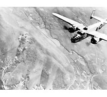 B-25 Bomber Over Germany Photographic Print