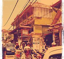 crowded street - kuta, bali by Olivia Chapman