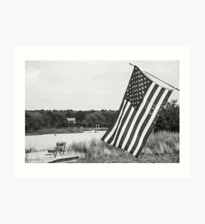American Flag- Summer in B&W Art Print