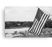 American Flag- Summer in B&W Canvas Print