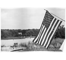American Flag- Summer in B&W Poster