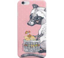 Eat Some Fresh Fruit - Asian Palm Civet - Pink iPhone Case/Skin