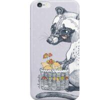 Eat Some Fresh Fruit - Asian Palm Civet - Gray iPhone Case/Skin
