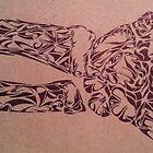 Tribal Wrist Xray by Larry Martinez