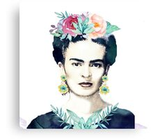 Watercolor Frida Kahlo  Canvas Print