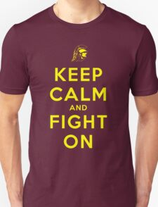 Keep Calm and Fight On (Gold Letters) T-Shirt
