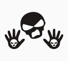 Skull Back Up Design Kids Tee