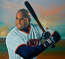 Barry Bonds painting by PaulMeijering