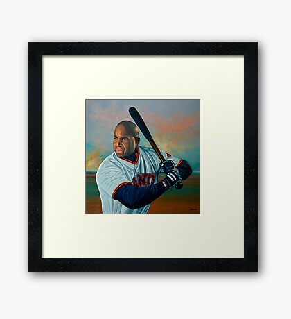 Barry Bonds painting Framed Print