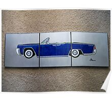 1965 Lincoln Continental Split Poster