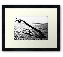Monochrome Seascape Framed Print