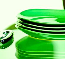 Manmade green for dine table...Got 4 Featured Works by Kornrawiee