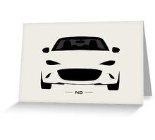 Mazda MX-5 (ND) simplistic design Greeting Card