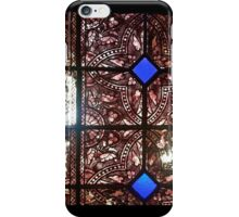 Stained glass in historical building iPhone Case/Skin