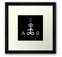 Occult symbol B Framed Print
