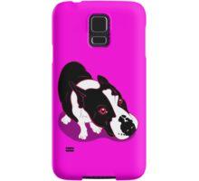 Mr Bull Terrier Pink Samsung Galaxy Case/Skin