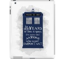 Dr Who - 900 years of time and space quote iPad Case/Skin
