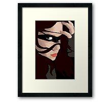Black Mask Framed Print