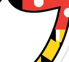 """""""O"""" Maryland Flag Sticker"""