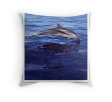 STRIPED DOLPHIN Stenella coeruleoalba #2 (NOT A PHOTOGRAPH OR PHOTOMANIP) Throw Pillow
