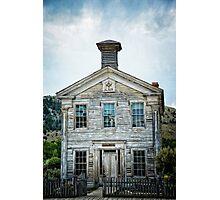 The School House Of Bannack Photographic Print
