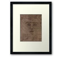 Man in the Wall Framed Print