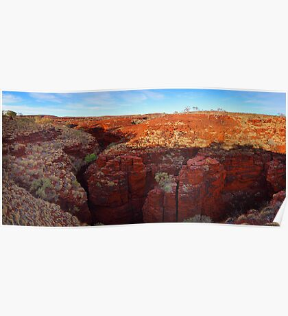 Sunset over Red Gorge - Karijini N.P. Poster