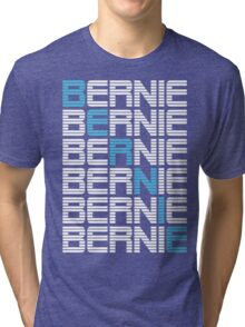 BERNIE sanders textual stack Tri-blend T-Shirt