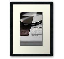 58mm Framed Print