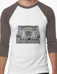Facade of the Duomo - Florence Men's Baseball ¾ T-Shirt