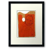 Easel Man Framed Print