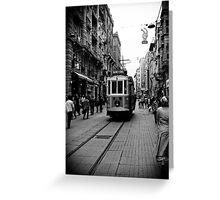 Old tram of Istiklal Caddesi Greeting Card