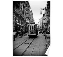 Old tram of Istiklal Caddesi Poster