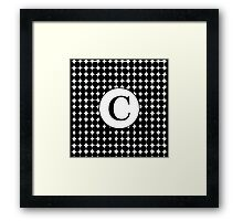 C Bubble Framed Print