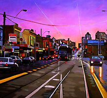 Bridge Road Sunset-Melbourne by Guntis Jansons