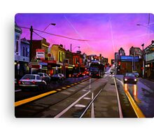 Bridge Road Sunset-Melbourne Canvas Print