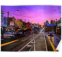Bridge Road Sunset-Melbourne Poster