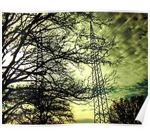 Electrified nature Poster