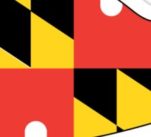 Maryland Flag with Turtle  Sticker