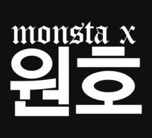 Monsta X Wonho Name/Logo 2 One Piece - Short Sleeve
