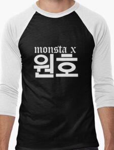 Monsta X Wonho Name/Logo 2 Men's Baseball ¾ T-Shirt