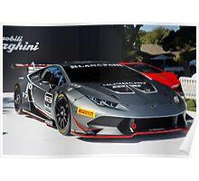Lamborghini Huracan Race Car Poster