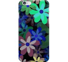 Blossoms in Bloom (Seamless Pattern, Inverted) iPhone Case/Skin