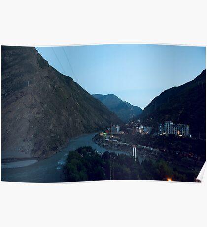 Dadu River, Sichuan, China Poster