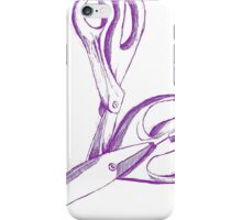 Save your scissors iPhone Case/Skin