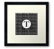 T Bubble Framed Print