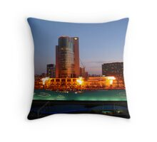 Night time in Melbourne  Throw Pillow