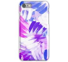 Purple Abstract Paint Pattern iPhone Case/Skin