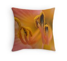 Hemerocallis Lily Throw Pillow